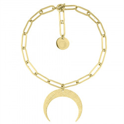 Bransoletka łańcuch pozłacany z półksiężycem Lunulą