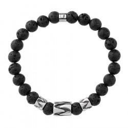 Bransoletka lawa wulkaniczna beads w stylu etno