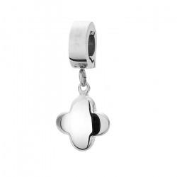 Charms koniczynka w kolorze srebrnym