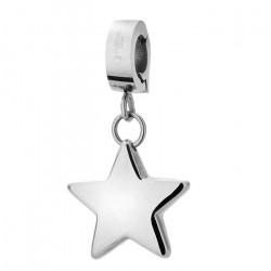 Charms z gwiazdką, kolor srebrny