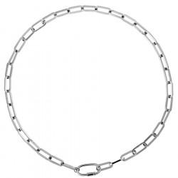 Choker naszyjnik gruby łańcuch z ozdobnym zapięciem ze stali szlachetnej