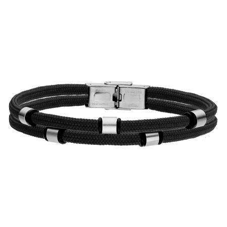 Czarna bransoletka męska beads