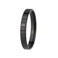 Czarna, minimalistyczna obrączka modułowa