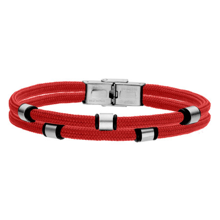 Czerwona bransoletka męska beads