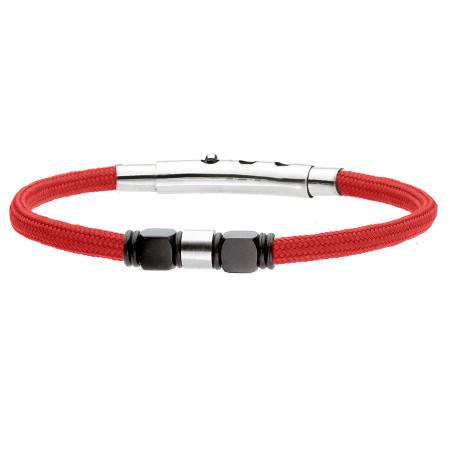Czerwona bransoletka z beadsami