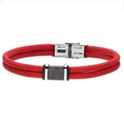 Czerwona-czarna męska bransoletka MANOKI DESIGN