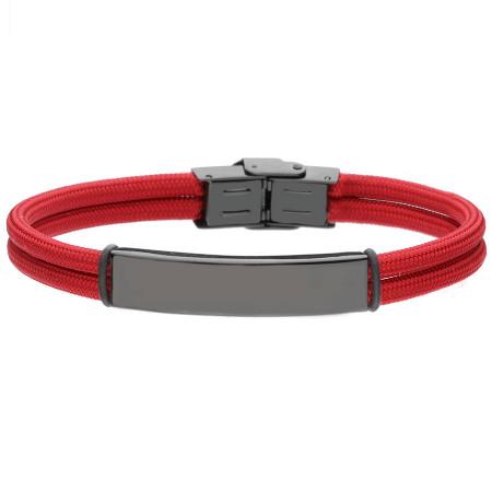 Czerwono czarna bransoletka pod grawer