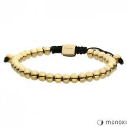 damska bransoletka ze stalowych kuleczek w złotym kolorze