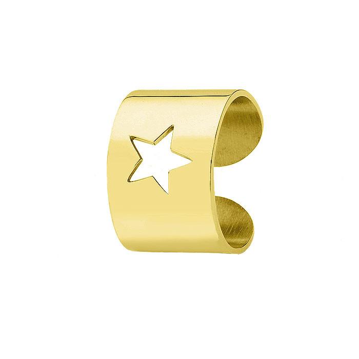 Damska obrączka STAR w kolorze złotym