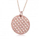 Damski naszyjnik ażurowy w kolorze różowego złota