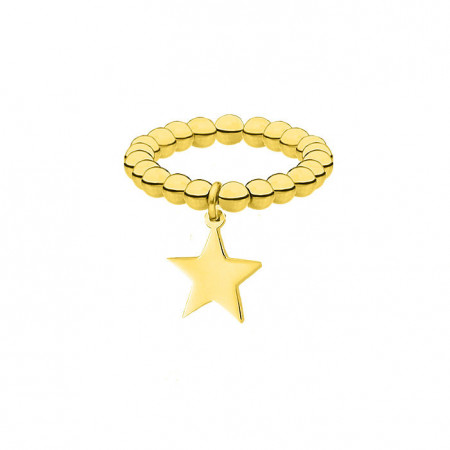 Elastyczna złota obrączka z gwiazdką