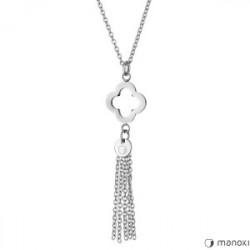 elegancki, srebrny naszyjnik damski z chwostem