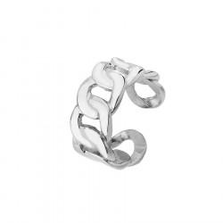 Gruby łańcuch srebrna obrączka łańcuch ze stali szlachetnej