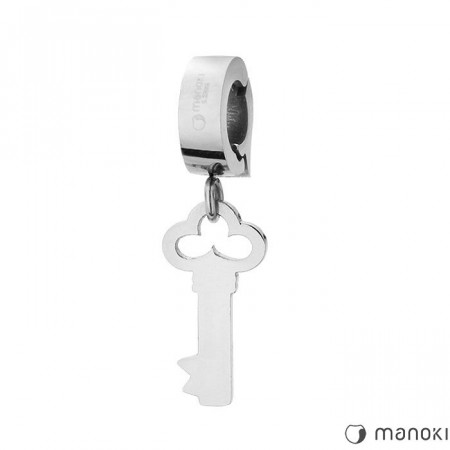 HA001 piękny charms klucz, kolor srebrny