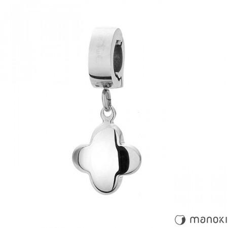 HA004 charms koniczynka w kolorze srebrnym