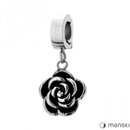 HA006 piękny charms z różą
