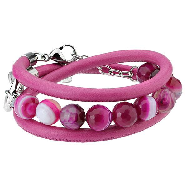 Wzmacniająca, różowa bransoletka