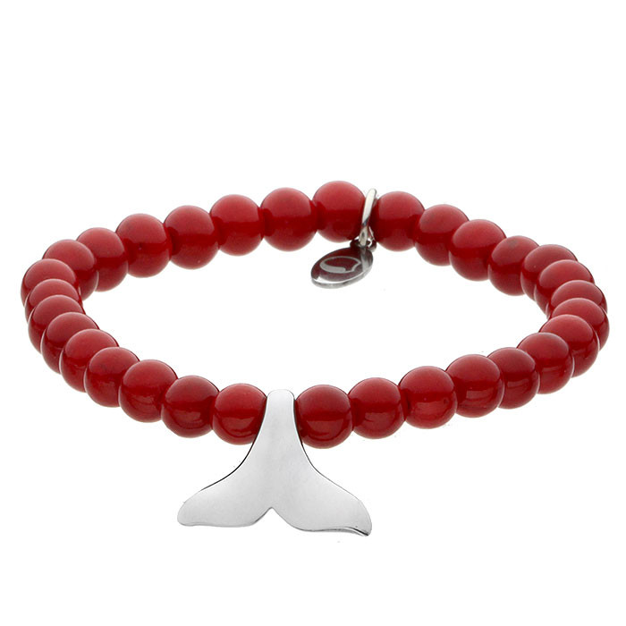 Red Queen, jadeit, czerwona bransoletka