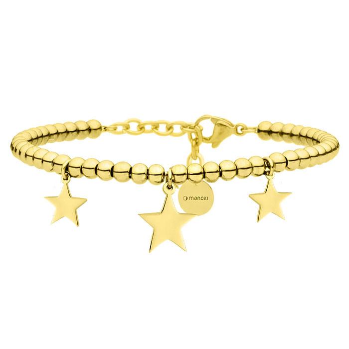 Złota bransoletka z gwiazdkami