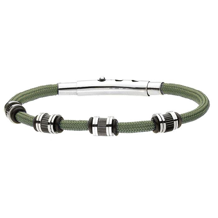 Zielona bransoletka sznurkowa