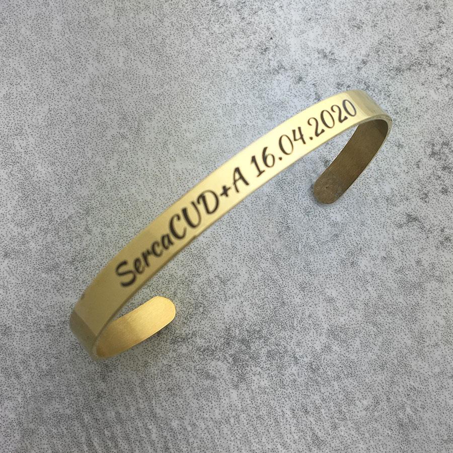 bransoletka pozlacana z personalizacja