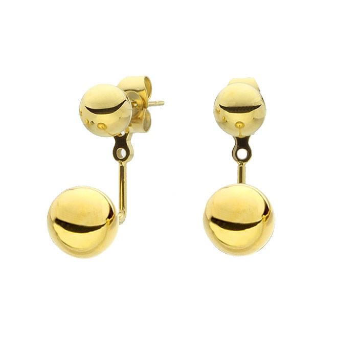 Złote kolczyki z kuleczkami