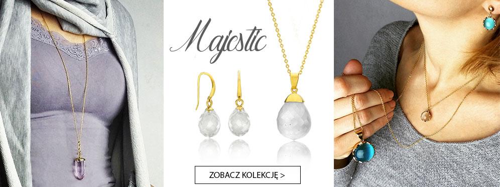 majestic komplety biżuterii z kamieniami