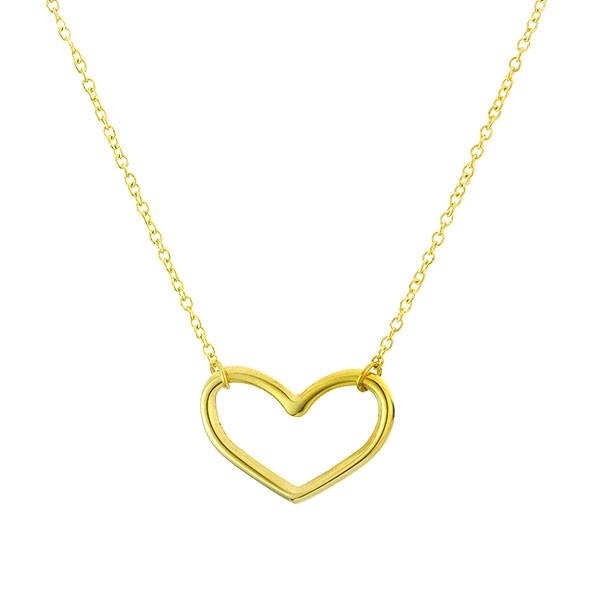 Minimalistyczny naszyjnik z serduszkiem, kolor złoty
