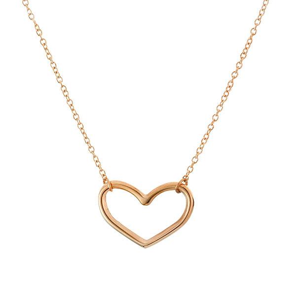 Minimalistyczny naszyjnik z serduszkiem, różowe złoto