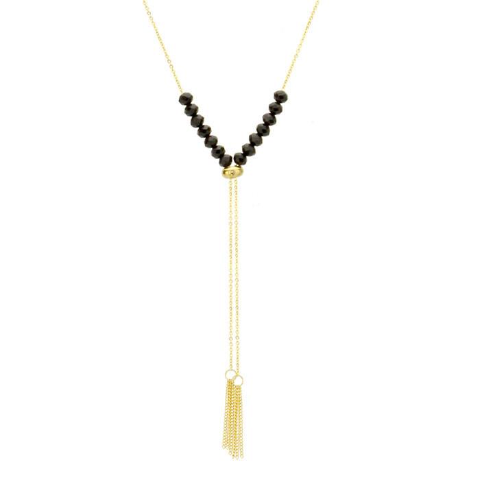 Oryginalny naszyjnik damski z chwostami, złoto-czarny