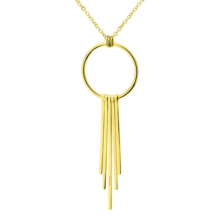 Złoty naszyjnik z symbolem karmy, kółeczko, chwost