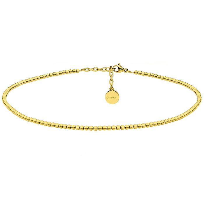 Piękny naszyjnik z kuleczek, choker w kolorze złotym
