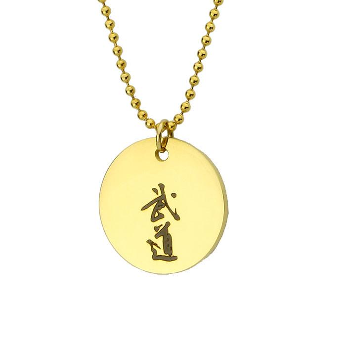 Damski medalion BUDO złoty