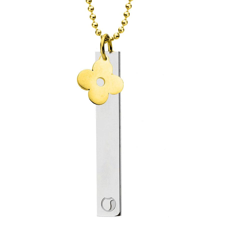 Naszyjnik złoty kwiatek