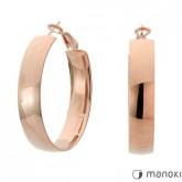 KA058R kolczyki koła w kolorze różowego złota