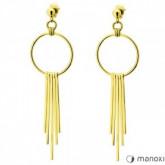 KA083G złote kolczyki damskie z symbolem karmy, chwost
