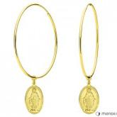 KA132G złote kolczyki z medalikiem