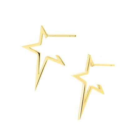 KA147G kolczyki złote gwiazdki