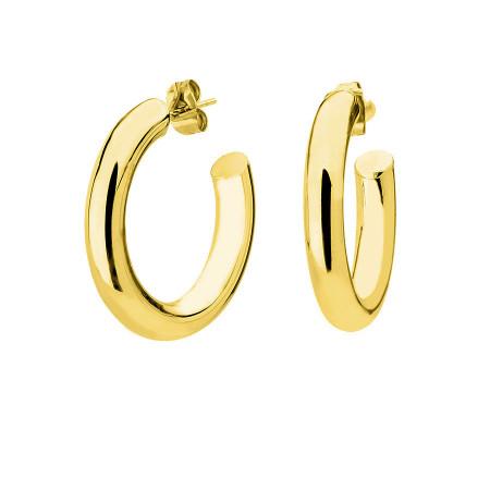 Kolczyki grube koła sztyfty złote