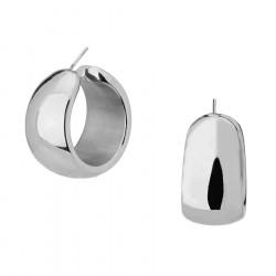 Kolczyki koła grube antyalergiczne ze stali szlachetnej srebrne