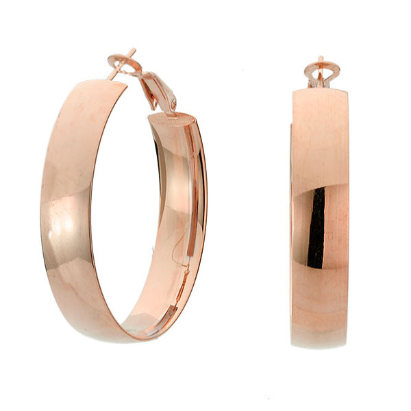 Kolczyki koła w kolorze różowego złota