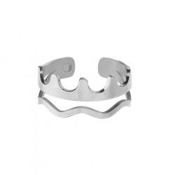 Korona pierścionek regulowany, minimalistyczny styl