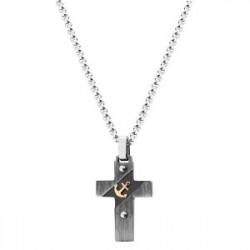 Krzyżyk z kotwicą stal szlachetna