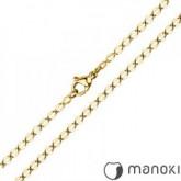 LA021G łańcuszek z hipoalergicznej stali, kolor złoty