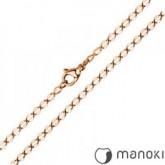 LA021R łańcuszek z hipoalergicznej stali szlachetnej, różowe złoto