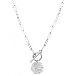 Łańcuch z medalionem naszyjnik srebrny stal szlachetna