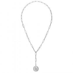 Łańcuch z monetą - naszyjnik ze stali szlachetnej