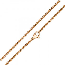 Łańcuszek z hipoalergicznej stali, kolor różowego złota