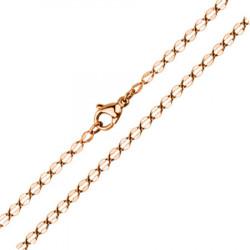 Łańcuszek z hipoalergicznej stali szlachetnej, różowe złoto