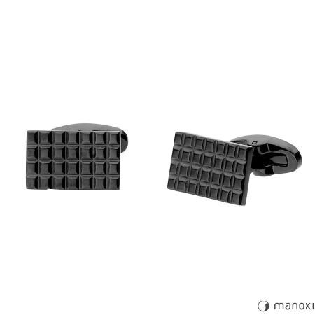 MA044 Spinki do mankietów BLACK